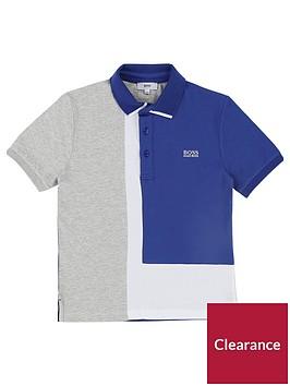 boss-boys-short-sleeve-colourblock-polo