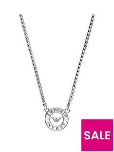 emporio-armani-ladies-stainless-steel-single-disc-logo-necklace