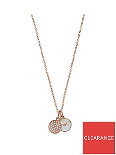 emporio-armani-ladies-rose-gold-tone-double-disc-logo-necklace