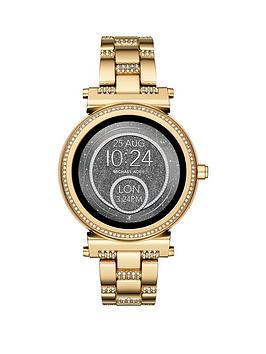 Michael Kors Mkt5023 Access Sofie Gold Tone Ladies Smartwatch thumbnail