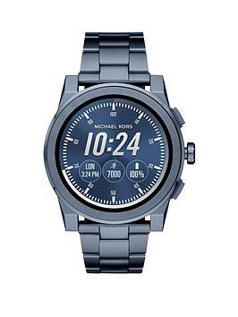 Michael Kors Mkt5028 Access Grayson Mens Navy Tone Smartwatch thumbnail