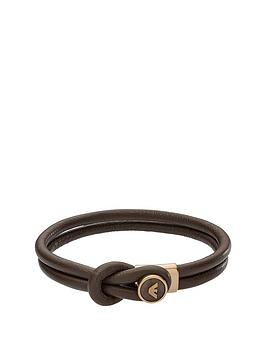 emporio-armani-mensnbspbrown-leather-button-logo-bracelet