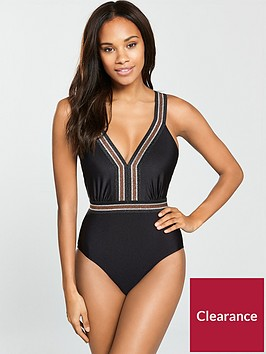 v-by-very-elastic-plunge-swimsuit