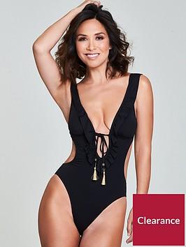 myleene-klass-ruffle-trim-swimsuit-black
