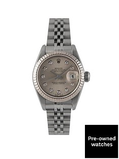 rolex-rolex-pre-owned-datejust-original-silver-diamond-dial-stainless-steel-ladies-watch-ref-69174