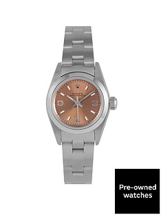 rolex-rolex-pre-owned-oyster-perpetual-salmon-dial-stainless-steel-ladies-watch-ref-67180