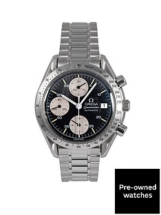 omega-omega-pre-owned-speedmaster-reduced-date-black-amp-white-dial-mens-watch-ref-351150