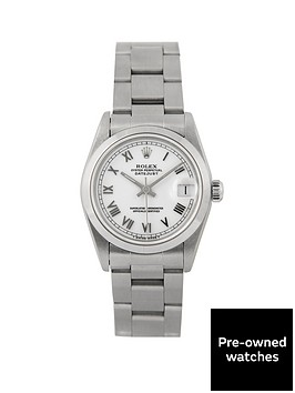 rolex-rolex-pre-owned-midsize-datejust-white-dial-stainless-steel-mens-watch-ref-68240