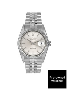 rolex-rolex-pre-owned-datejust-silver-baton-dial-stainless-steel-mens-watch-ref-16220