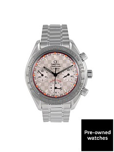 omega-pre-owned-speedmaster-racing-michael-schumacher-black-dial-stainless-steel-watch-ref-351730