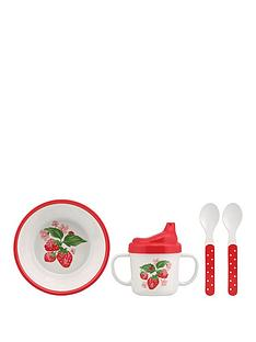 cath-kidston-cath-kidston-melamine-nursery-feeding-set-wild-strawberry