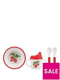 cath-kidston-cath-kidston-melamine-nursery-feeding-set-wild-strawberry