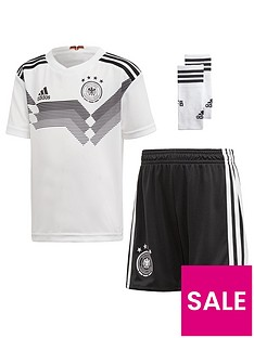 adidas Infant Home Germany 2018 Mini Kit - Black White 04cd1cb5dca3