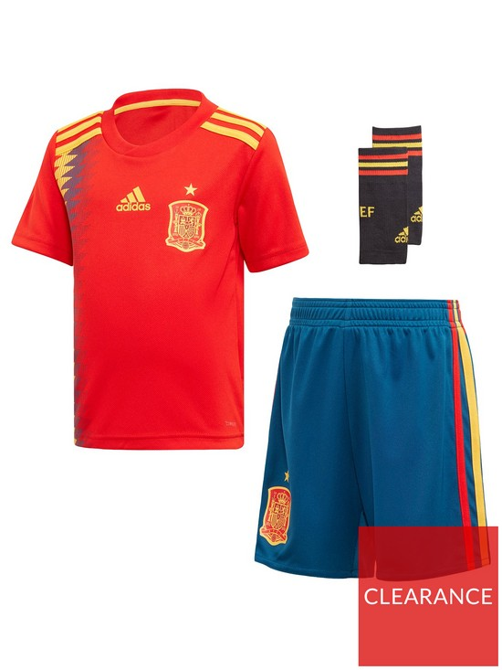 13a365626 adidas Infant Home Spain 2018 Mini Kit - Red