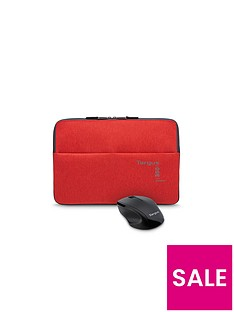 targus-targus-360-perimeter-156quot-laptop-sleeve-flame-scarlet-with-wireless-optical-mouse