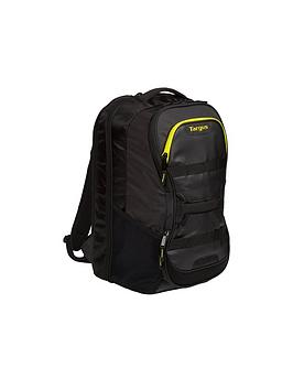Targus Targus Work + Play Fitness 15.6&Quot; Laptop Backpack - Black/Yellow