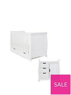 obaby-stamford-classic-sleigh-3-piece-nursery-furniture-set