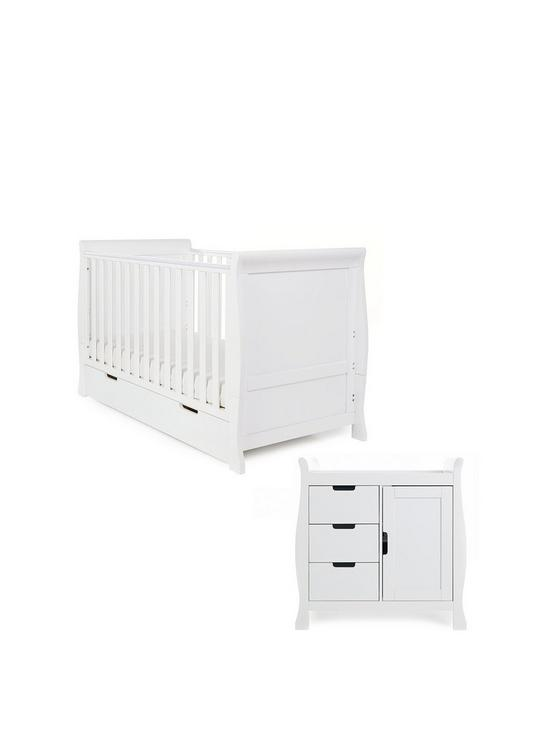 Obaby Stamford Classic Sleigh 3 Piece Nursery Furniture Set Very Co Uk