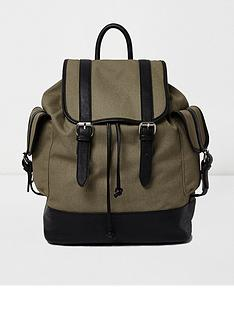 river-island-river-island-washed-canvas-strap-backpack