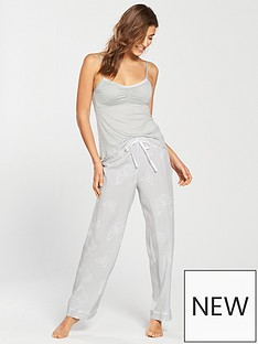 v-by-very-butterfly-cami-top-woven-pj-set-grey