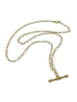 love-gold-9-carat-yellow-gold-figaro-t-bar-pendant