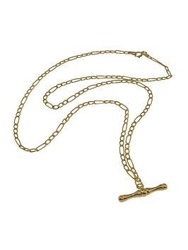 love-gold-9-carat-yellow-gold-figaro-t-bar-pendant