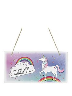 personalised-unicorn-wooden-sign