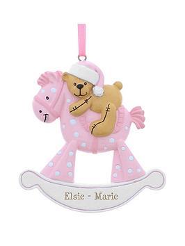 personalised-pink-rocking-horse-resin-decoration