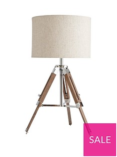 ideal-home-loki-wooden-tripod-table-lamp