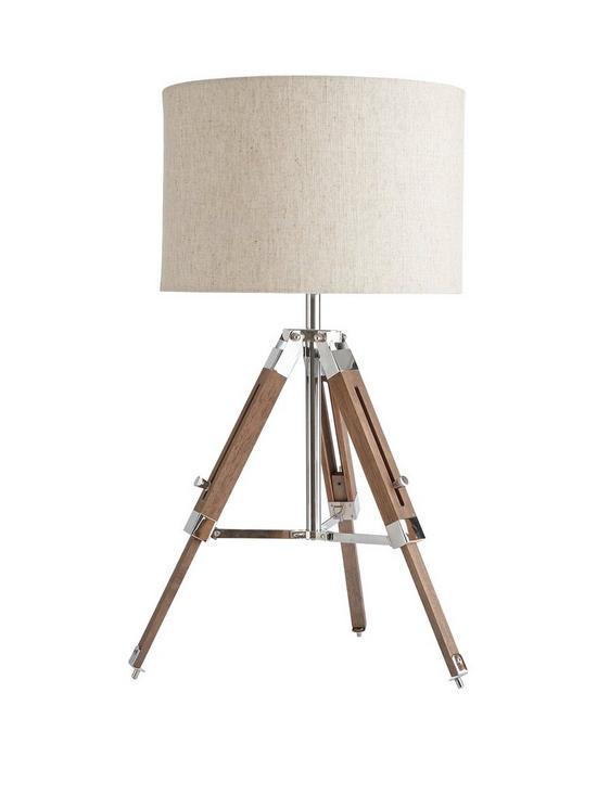Ideal Home Loki Wooden Tripod Table Lamp Very Co Uk