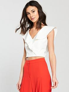 coast-tia-ruffle-v-neck-top