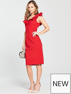 coast-kora-ruffle-shift-dress-red