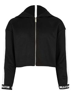 river-island-girls-ri-active-black-stripe-cropped-hoodie