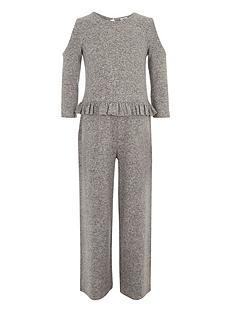 river-island-girls-marl-grey-cold-shoulder-frill-jumpsuit