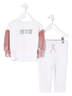 river-island-mini-girls-white-039too-cute039-jumper-outfit