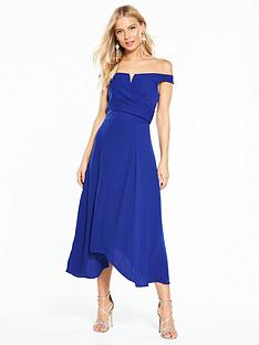 coast-ali-soft-bardot-dress-cobalt