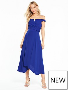 coast-ali-soft-bardot-dress-cobalt