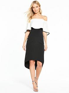 coast-zahranbsptipped-bandeau-dress-monochrome