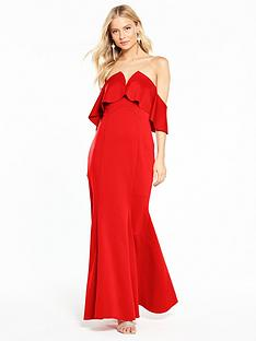 coast-sade-scuba-maxi-dress-red