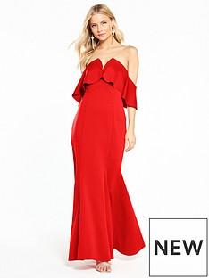 coast-sade-scuba-maxi-dress-red