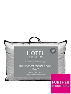 Ideal Home Luxury Goose Feather & Down Pillow Pair