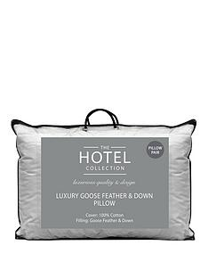 Ideal Home Luxury Goose Feather & Down Pillow