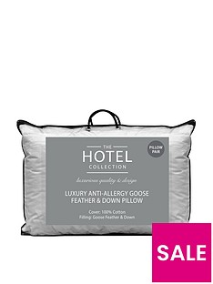 Ideal Home Luxury Anti-Allergy Goose Feather & Down Pillow