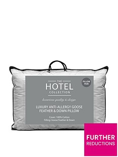 Ideal Home Luxury Anti-Allergy Goose Feather and Down Pillows (Pair)