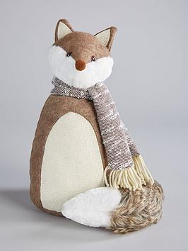 winter-fox-doorstoppernbspchristmas-decoration
