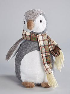 festive-plush-penguin-door-stopper-christmas-decoration