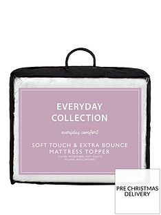 everyday-collection-soft-touch-amp-extra-bounce-mattress-topper