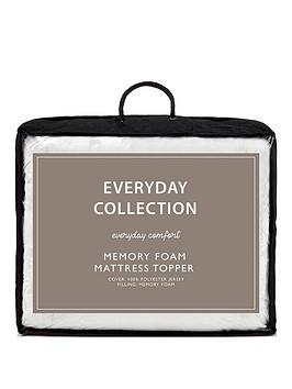 Everyday Collection Memory Foam 2.5 Cm Mattress Topper