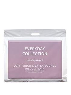 Everyday Collection Soft Touch & Extra Bounce 2 Pack Pillows