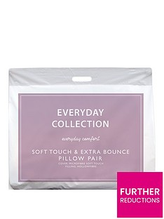 Everyday Collection Soft Touch and Extra Bounce Pillows (Pair)